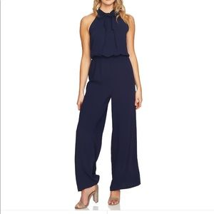 Navy Blue tie neck jumpsuit romper 6